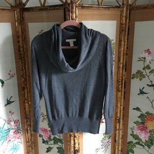 Banana Republic gray cowl neck long sleeve sweater